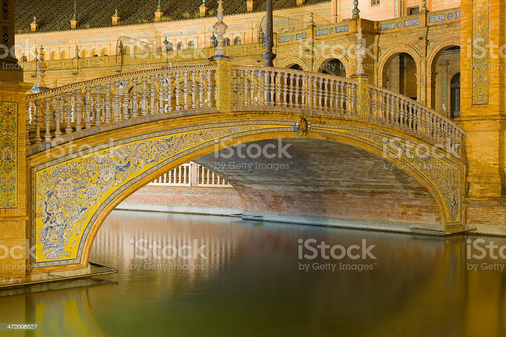 Bridge at The Plaza de España royalty-free stock photo