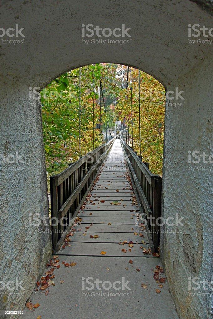 Bridge at Turkey Run SP stock photo