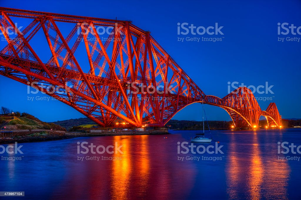 Bridge at twilight royalty-free stock photo