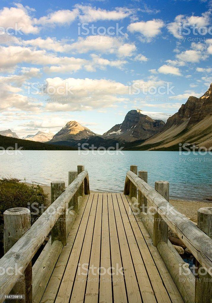 Bridge at waters edge royalty-free stock photo