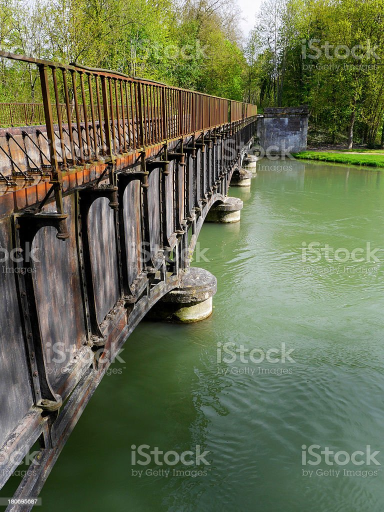 Bridge, Barberey, France stock photo