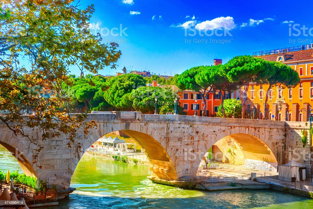 Bridge Cestio stock photo
