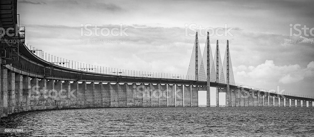 Bridge between Sweden and Denmark stock photo