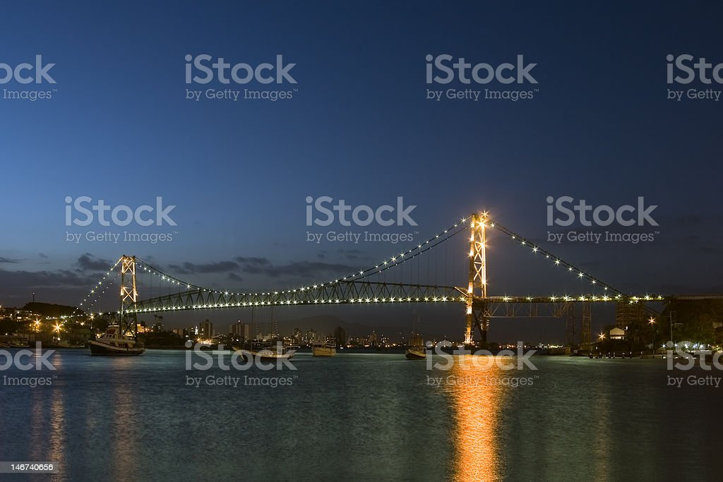 Bridge by night stock photo