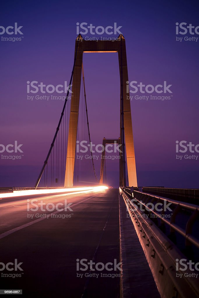 Bridge by Night royalty-free stock photo