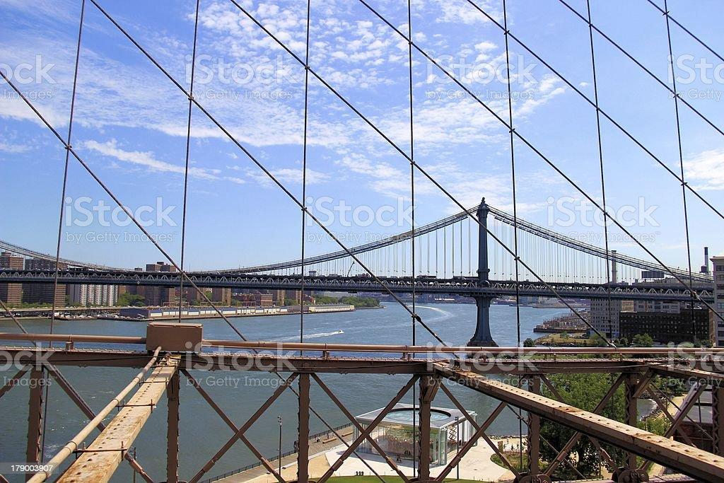 Bridge Cables royalty-free stock photo