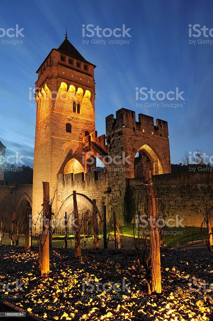 bridge Cahors royalty-free stock photo