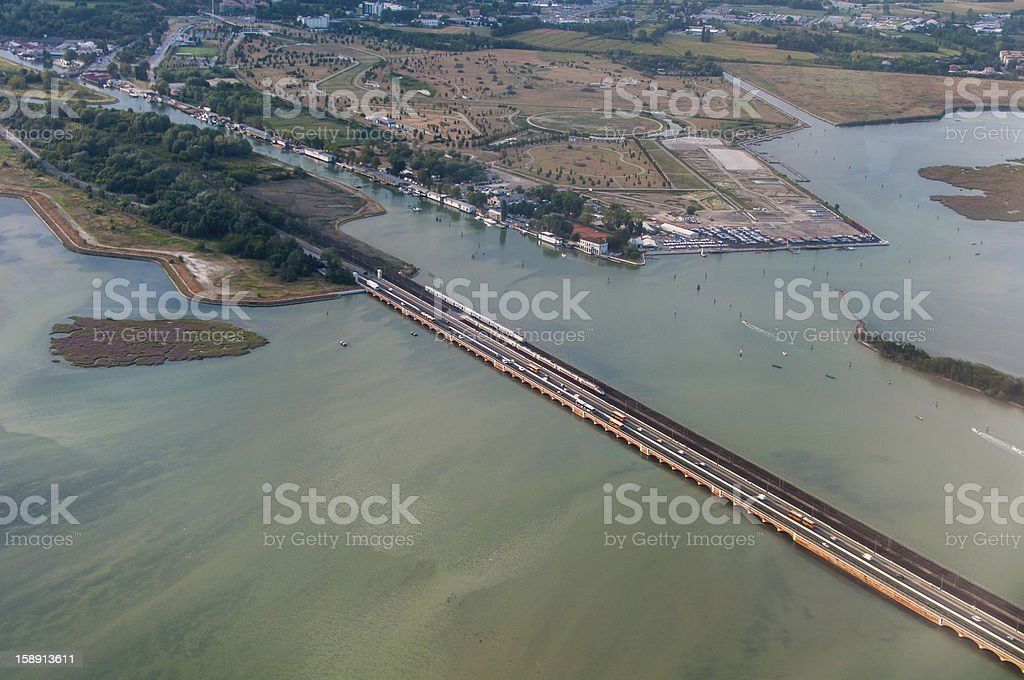 Bridge connecting Venice with the inland. Italy royalty-free stock photo