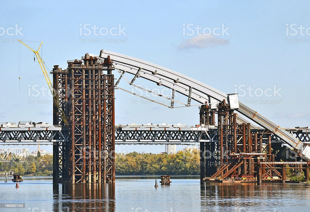 Bridge construction site royalty-free stock photo