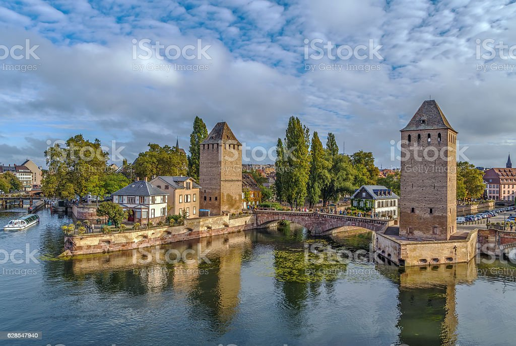 Bridge Ponts Couverts, Strasbourg stock photo