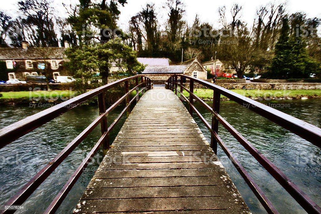 Bridge cross river in rural town upon Avon, England stock photo