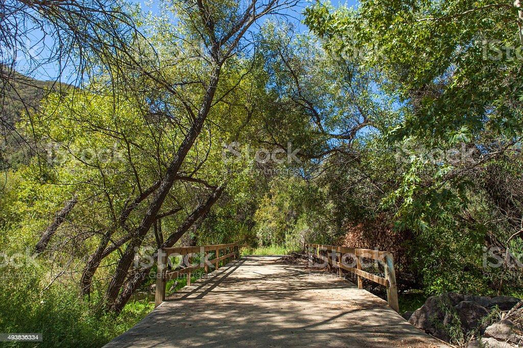 Bridge Crossing of Malibu Creek Near Century Lake royalty-free stock photo