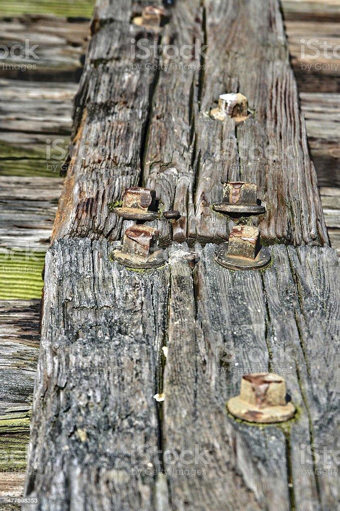 Bridge deck stock photo