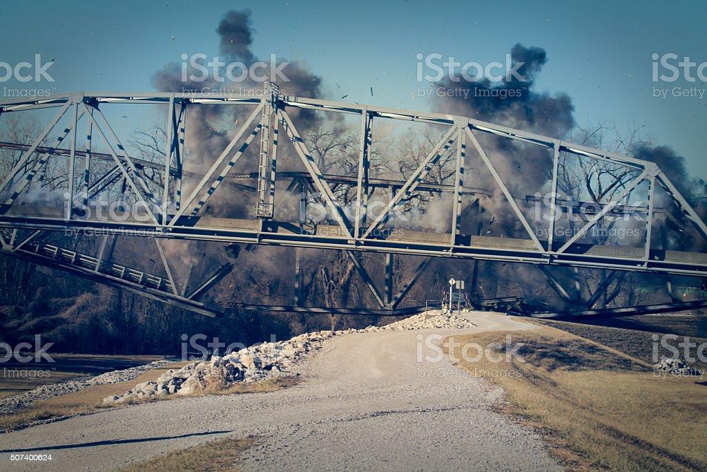 Bridge Demolition stock photo