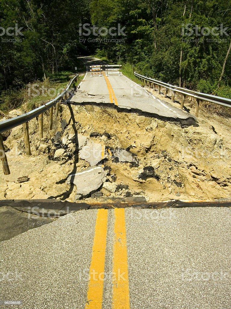 Bridge Destroyed stock photo