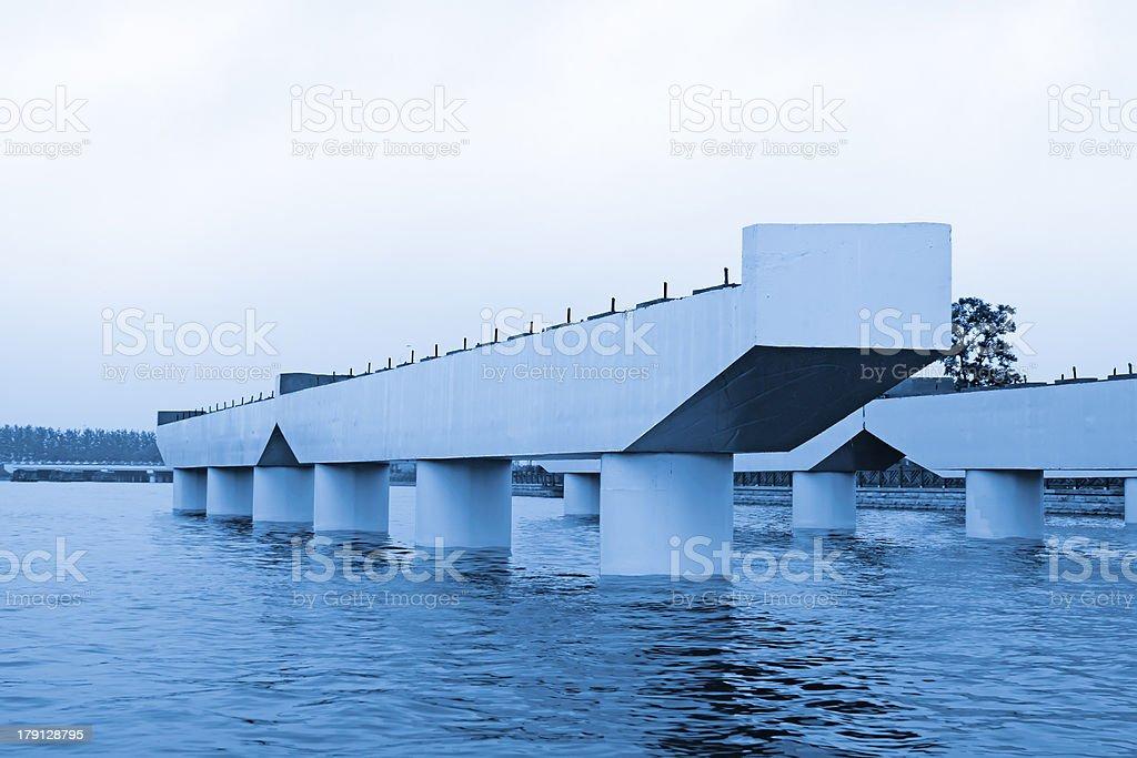 bridge during the constructing royalty-free stock photo
