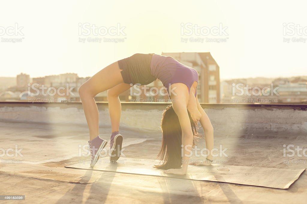 Bridge Exercise stock photo