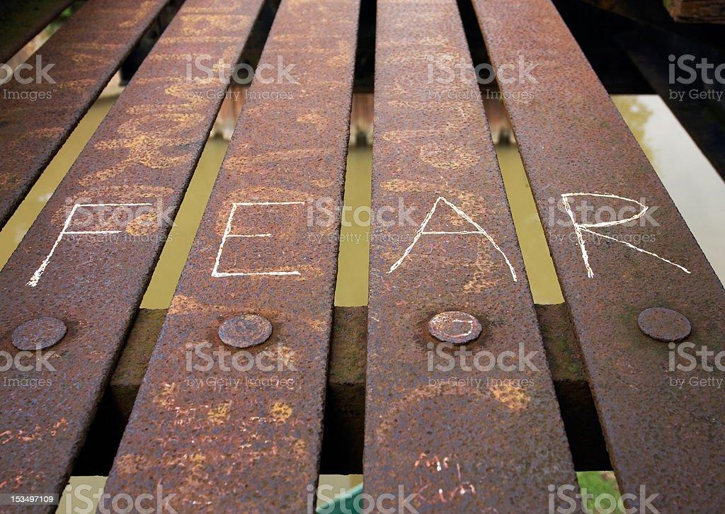 Bridge - fear stock photo