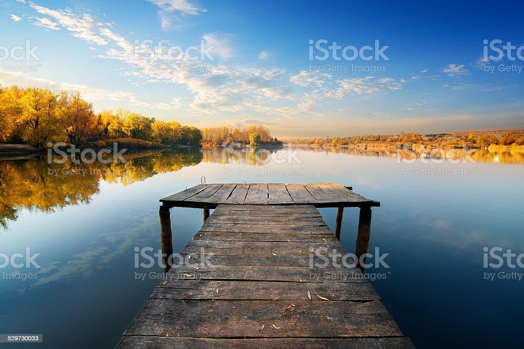 Bridge for fishing stock photo