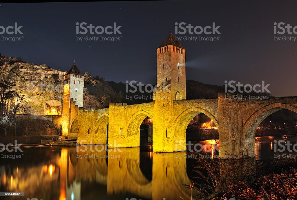 bridge France Cahors stock photo