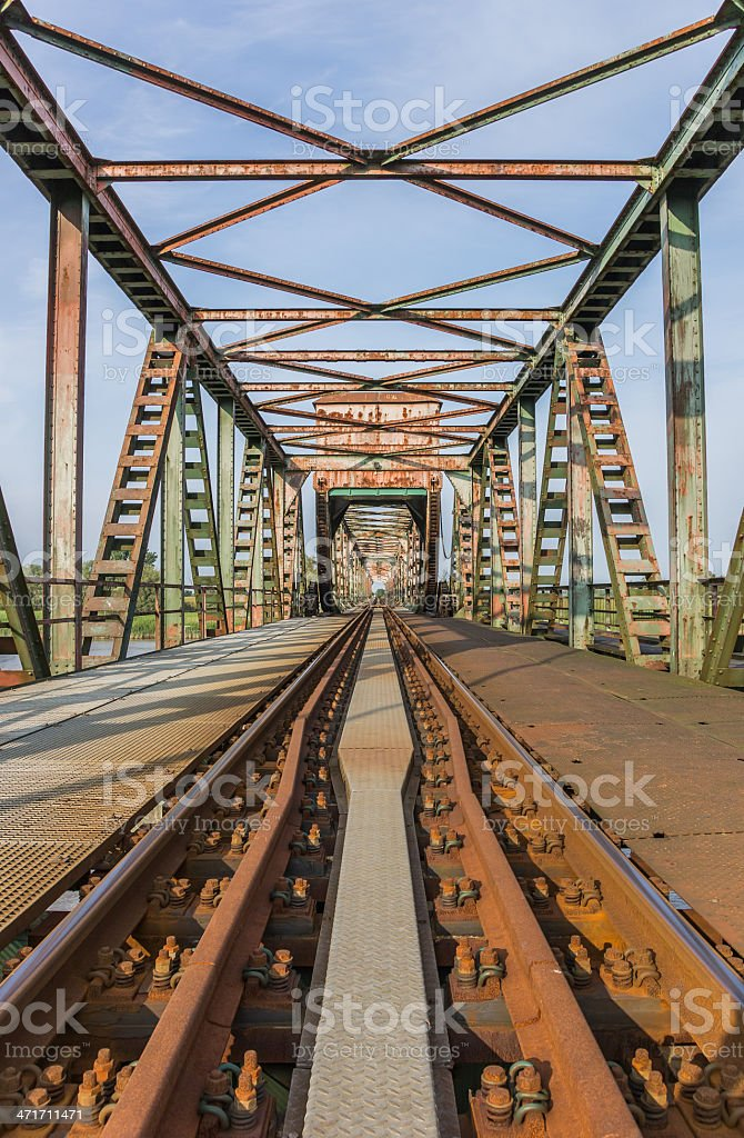 Bridge Friesenbrucke close to Weener in Germany stock photo