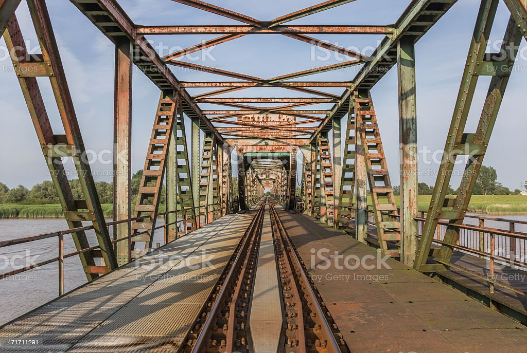 Bridge Friesenbrucke near Weener in Germany stock photo