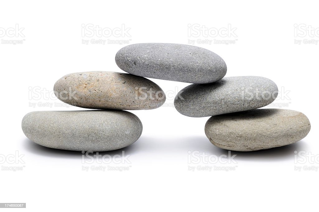 Bridge from Balancing of pebbles stock photo