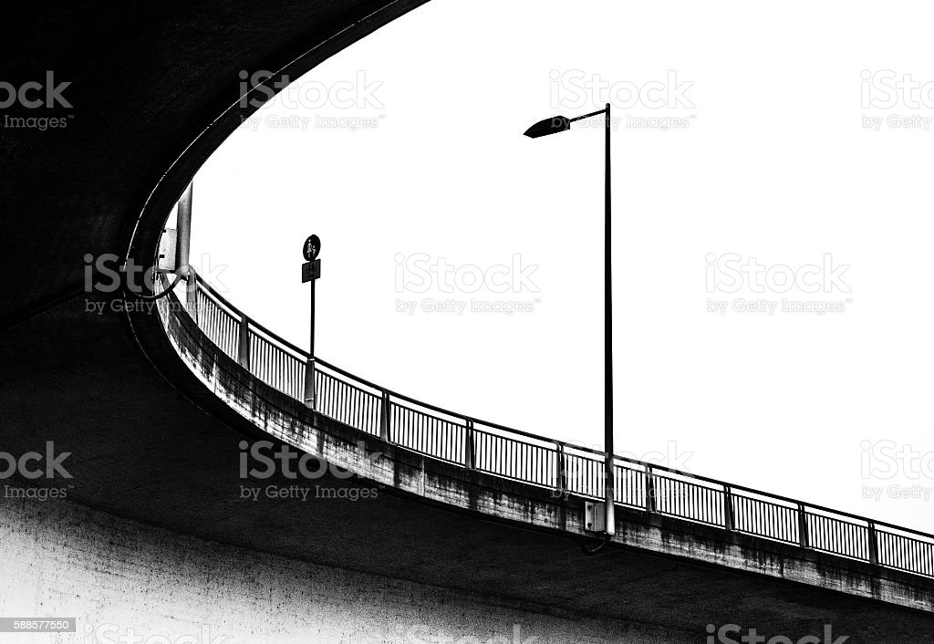 bridge from below stock photo