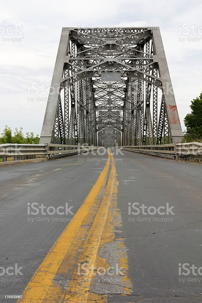 Bridge from Missouri to Illinois royalty-free stock photo