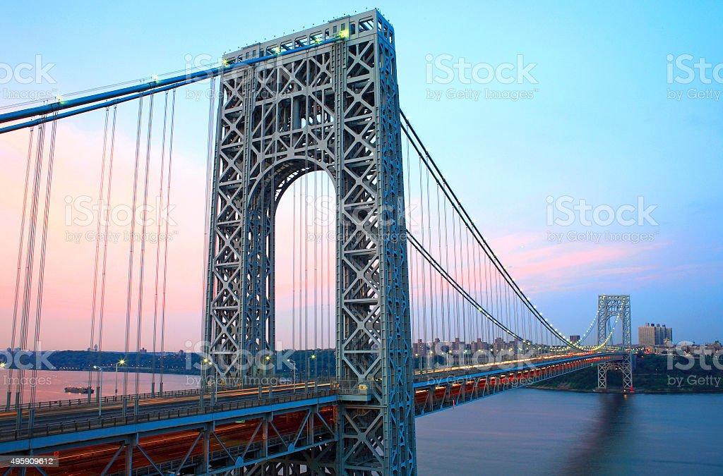 GW Bridge from NJ stock photo