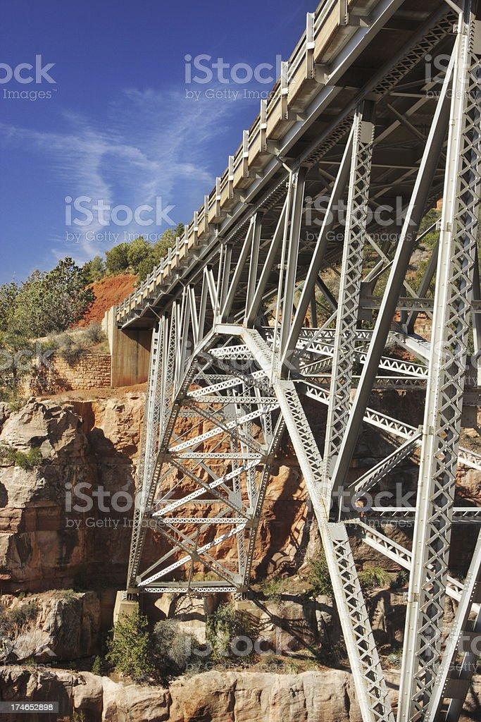Bridge Girder Steel Arch Canyon Road stock photo