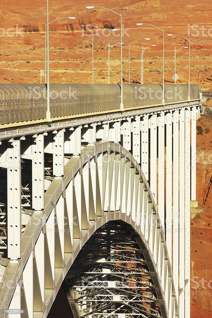 Bridge Glen Canyon Desert royalty-free stock photo