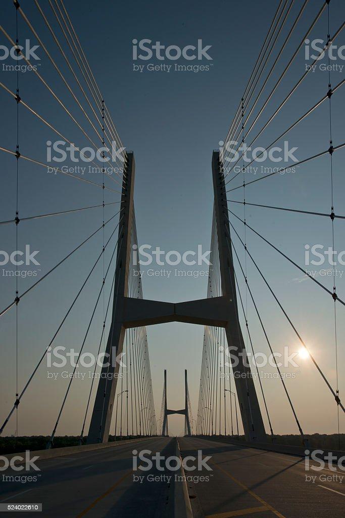 US 82 Bridge Greenville Mississippi 3 stock photo
