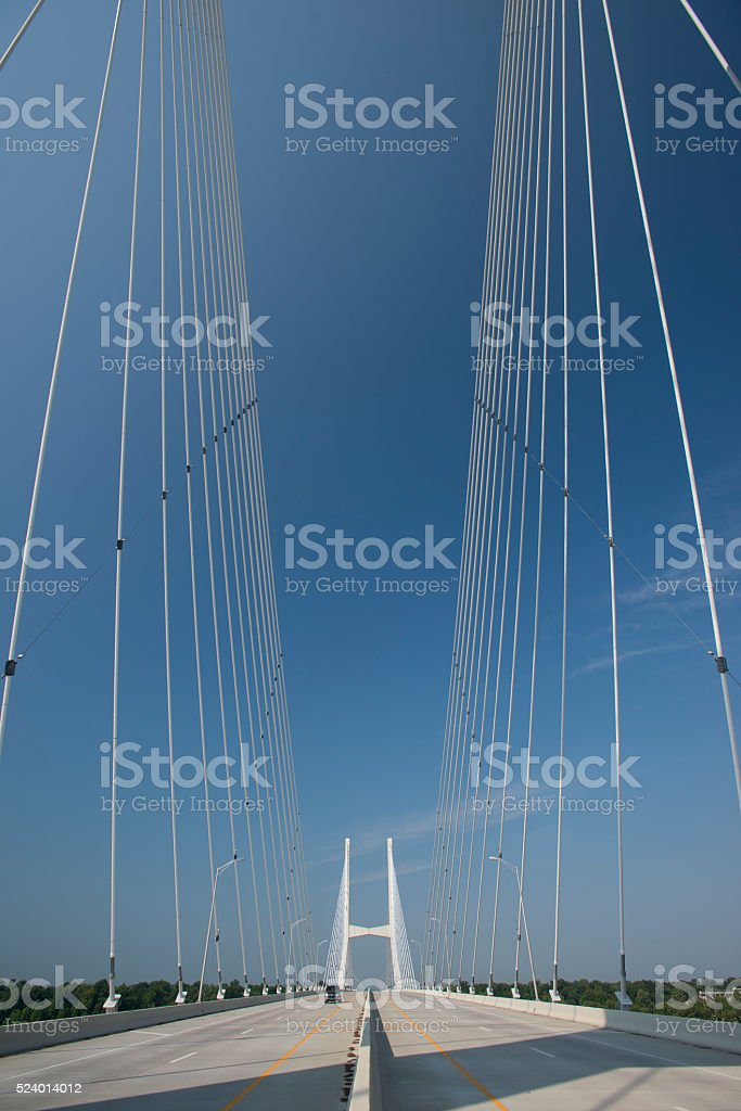 US 82 Bridge Greenville Mississippi stock photo