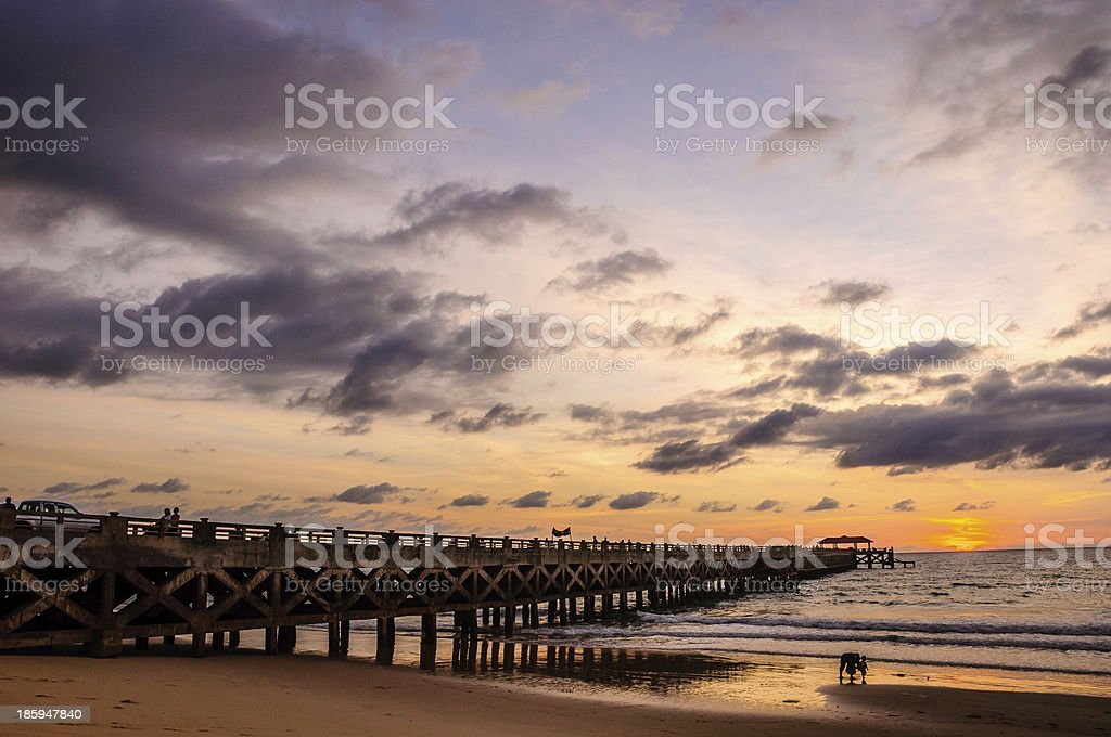bridge in amazing sunrise royalty-free stock photo