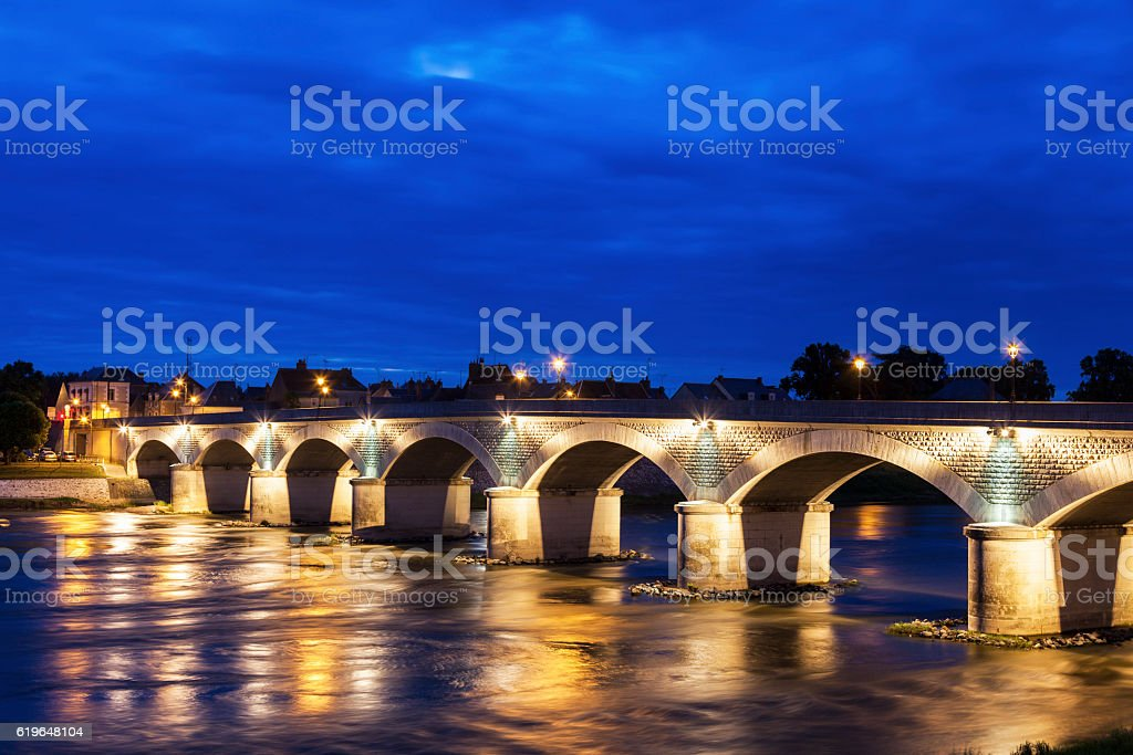 Bridge in Amboise stock photo