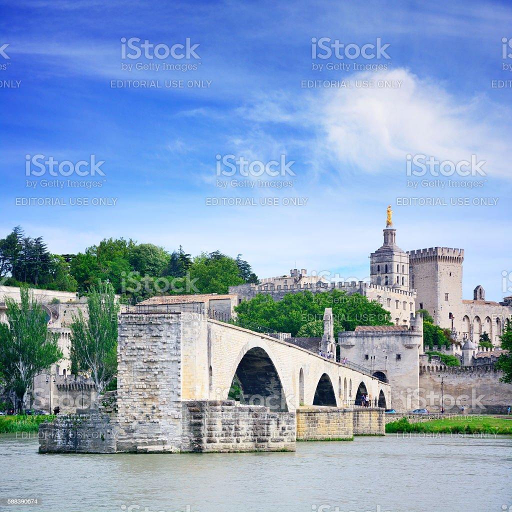 Bridge in Avignon stock photo
