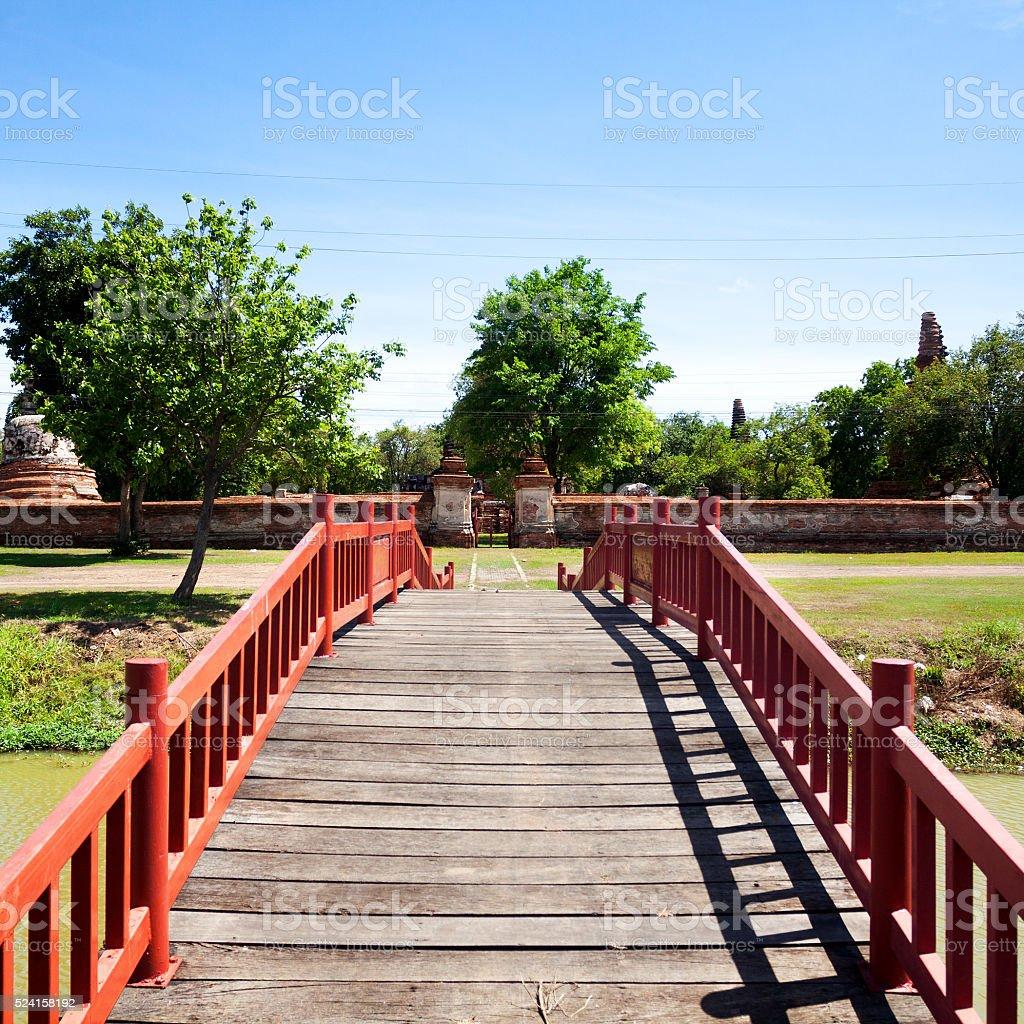 Bridge in Ayuttaya stock photo