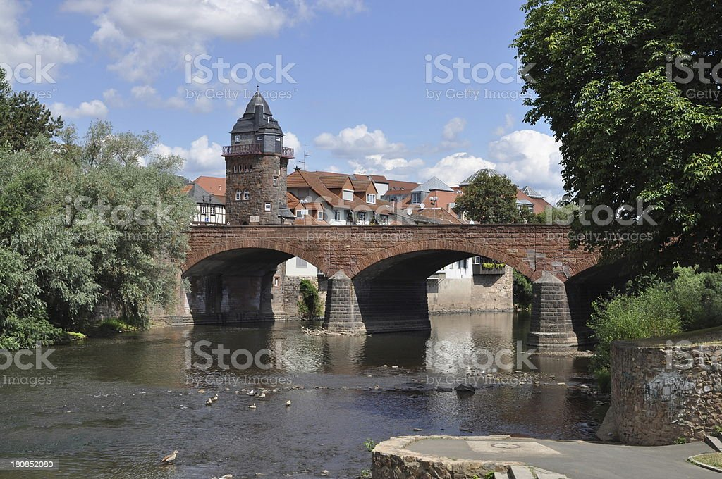 Bridge in Bad Kreuznach, Germany stock photo