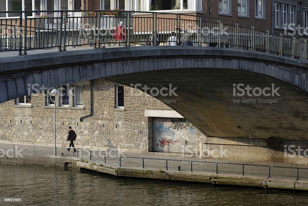 Bridge in Belgium royalty-free stock photo