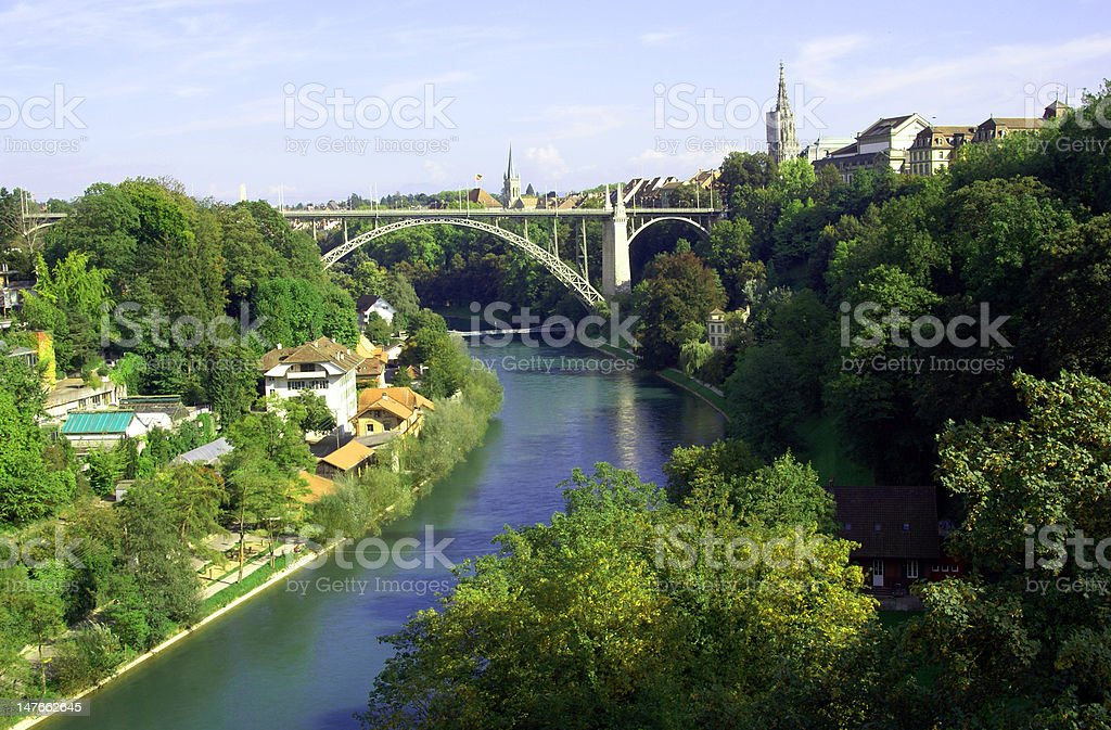 Bridge in Bern royalty-free stock photo