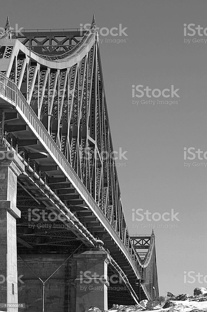 Bridge in black and white royalty-free stock photo
