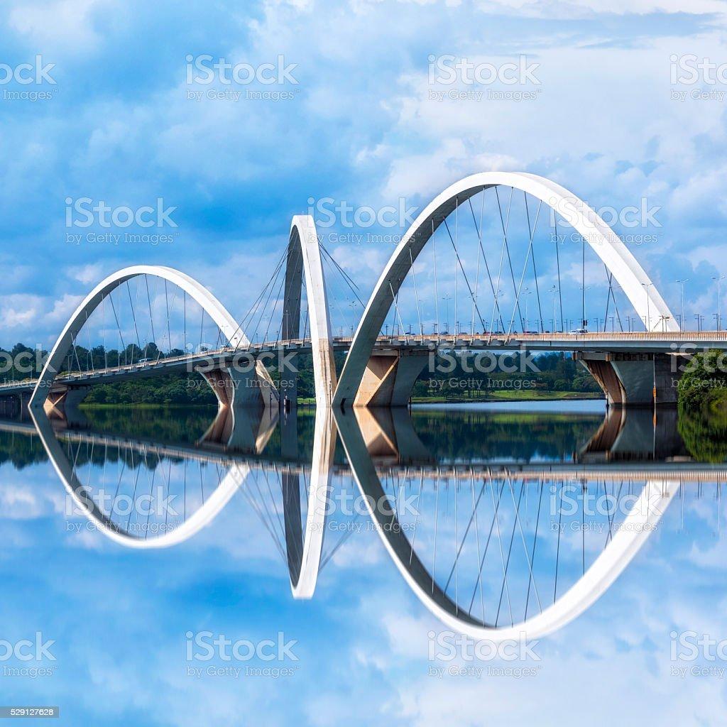JK Bridge in Brasilia, Capital of Brazil stock photo