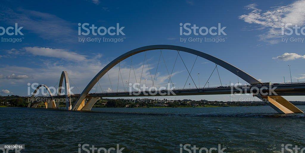 Bridge in Brasilia stock photo