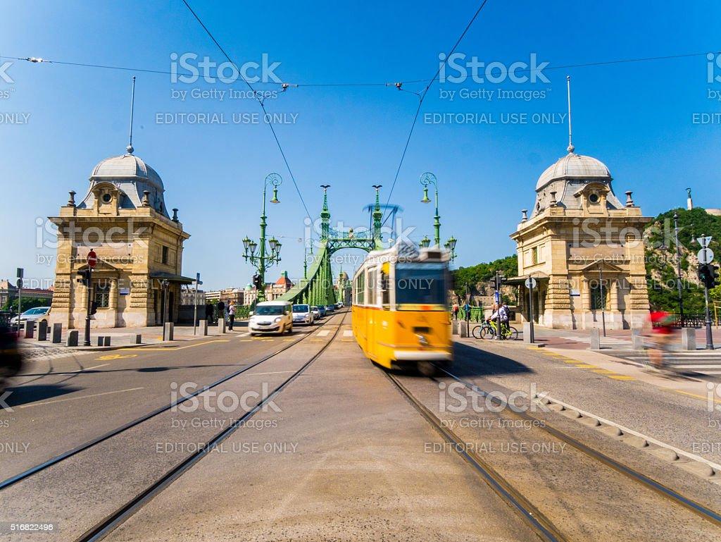 Bridge in Budapest, Hungary stock photo
