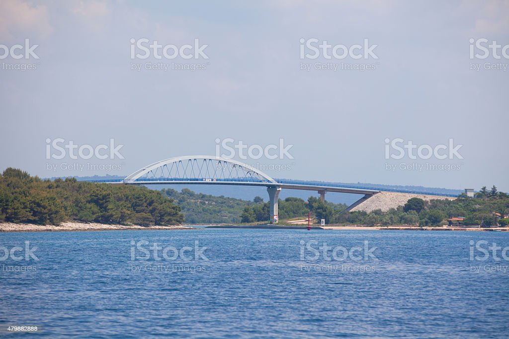 Bridge in Croatia Pag stock photo
