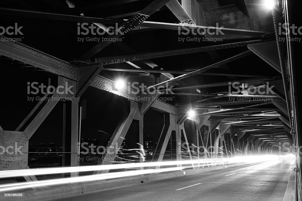 Bridge in Edmonton, Canada stock photo