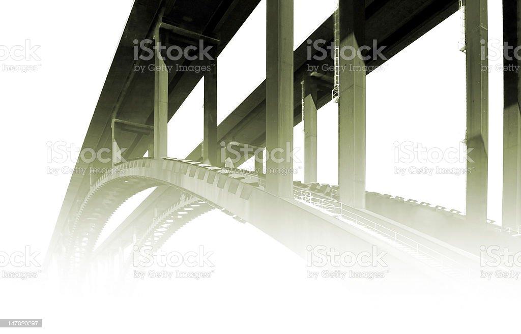 Bridge in fog royalty-free stock photo