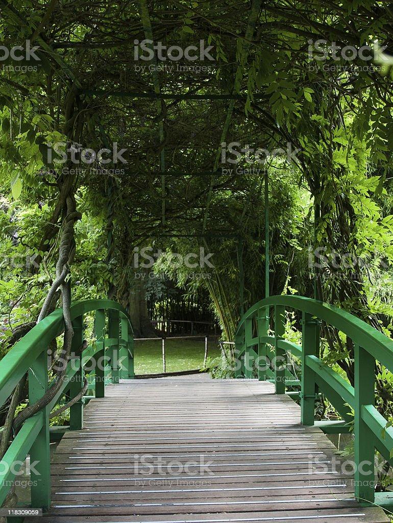 Bridge in Garden stock photo