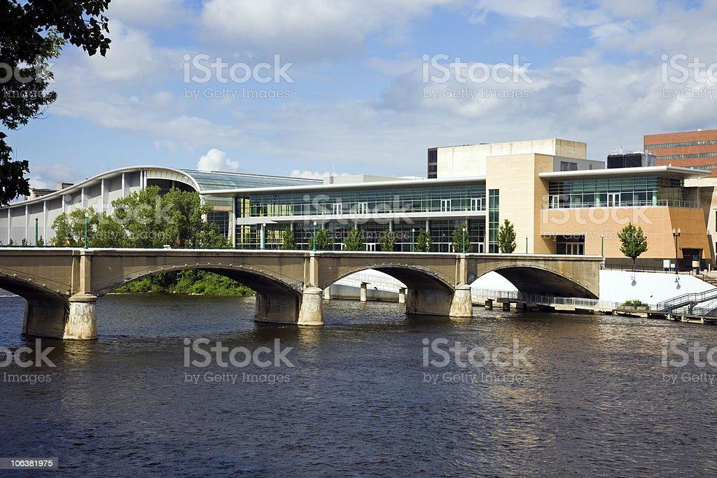 Bridge in Grand Rapids stock photo